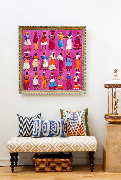 Bold art and pattern! | Ethnic-Abilities | Pinterest | Bench ...