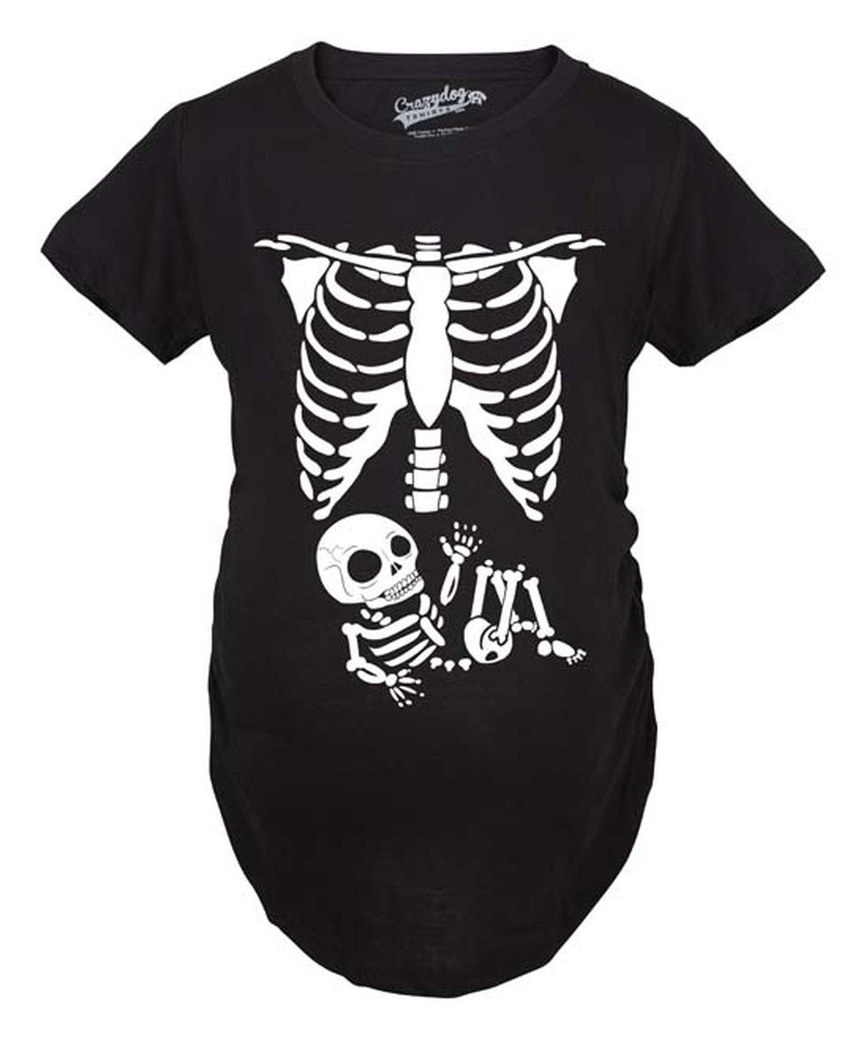 Skeleton BABY HALLOWEEN T-shirt pumpkin maternity Pregnant Tshirt Unisex Ladies