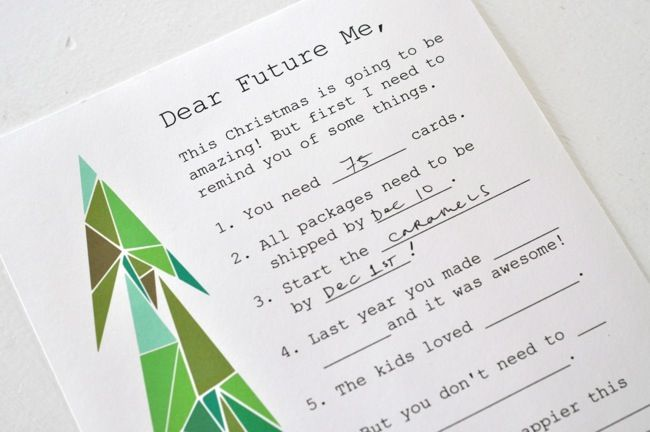 Christmas By Myself This Year.Christmas Letter To Myself A Printable From Elsie Marley