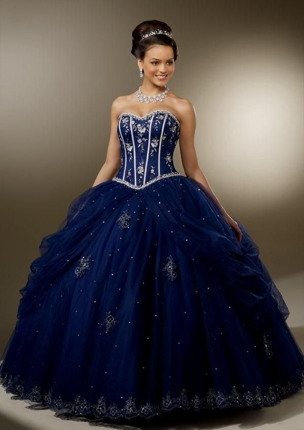 Image result for royal blue and gold quince dress | quince ...