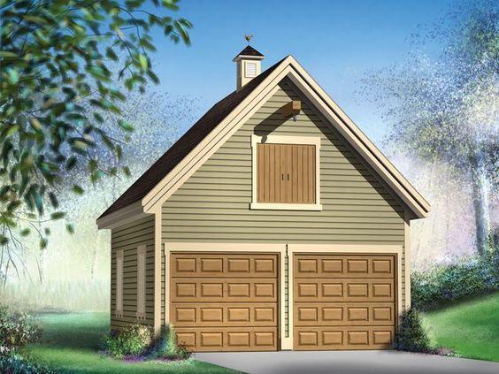072G-0017: Multi-Sized 2-Car Garage Plan with Loft ...