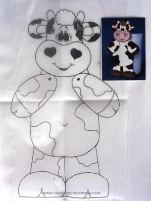 pintura country moldes vacas - Buscar con Google