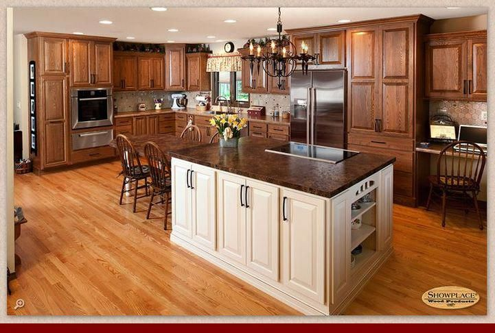 guidelines on  oak cabinets with white subway tile