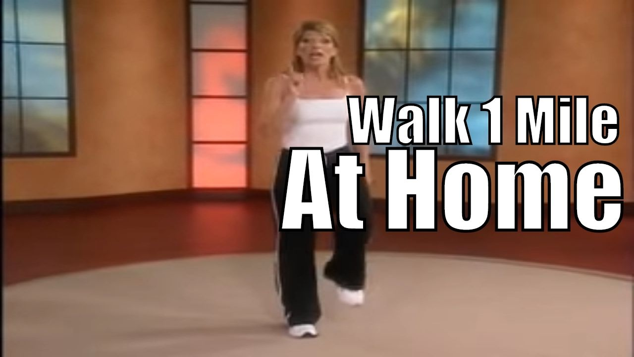 1 Mile In Home Walk! | Walking Workout Videos  ~~ this walk is pretty much the same as her Walk the Walk DVD I have and like! 1 mile, about 15 min