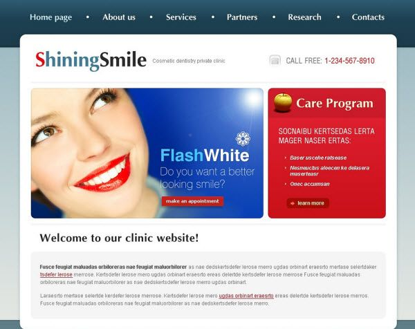 dental clinic website templates - website templates - dentist