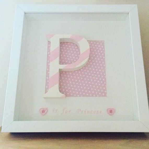 Initial frame, Personalised letter frame, personalized letter frame ...