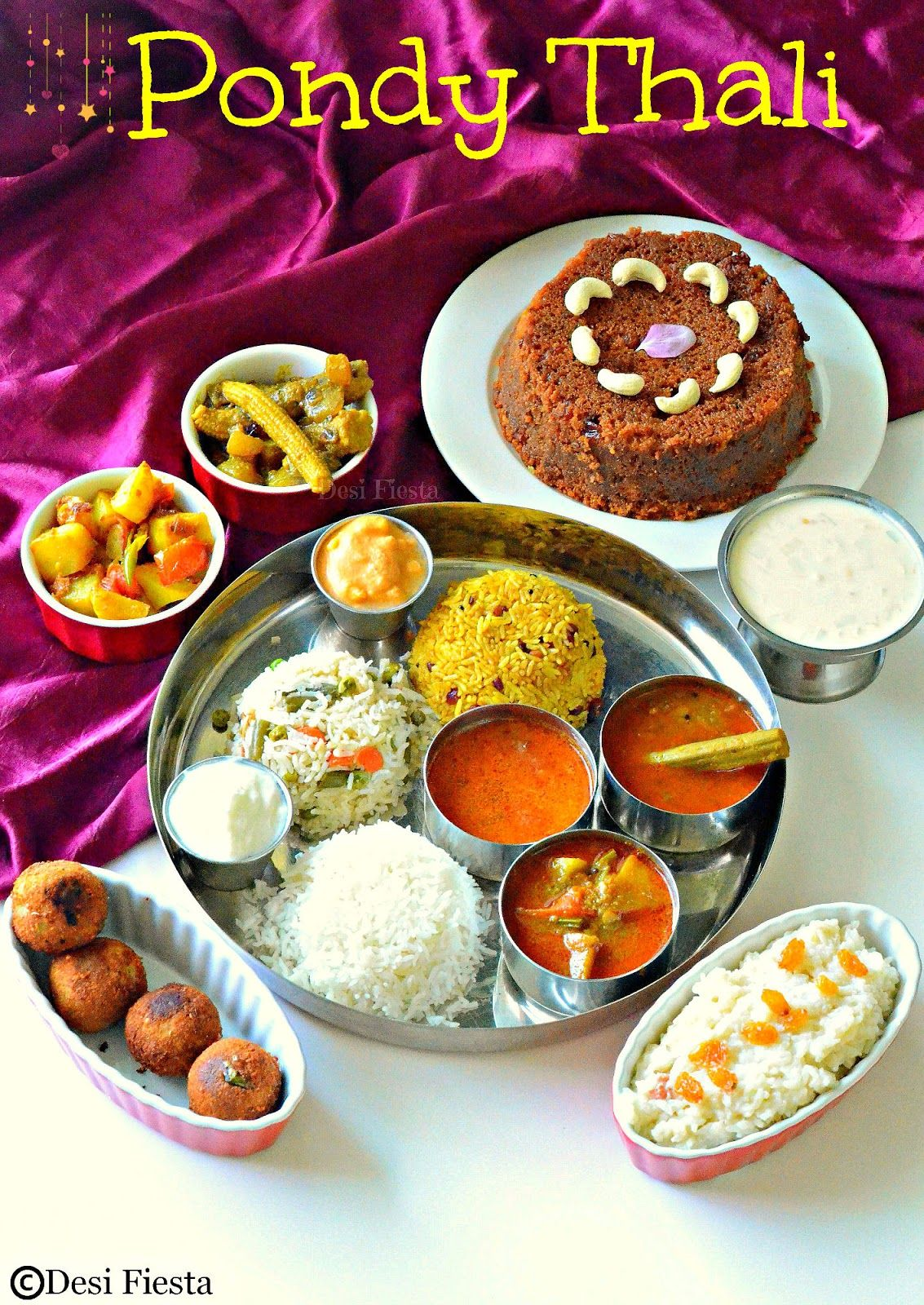 Desi fiesta pondicherry thali indian recipes pinterest desi fiesta pondicherry thali forumfinder Choice Image