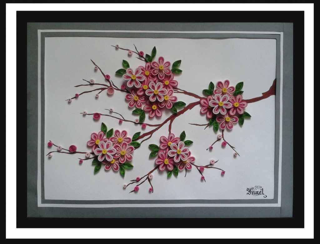 Cherry Blossom Tree Quilling By One Winged Angel 5 Quilling Techniques Quilled Tree Cherry Blossom Tree