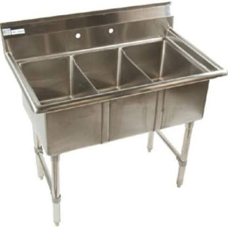 Stainless Steel Triple Sink Google Search Commercial Kitchen Equipment Commercial Kitchen Small Sink