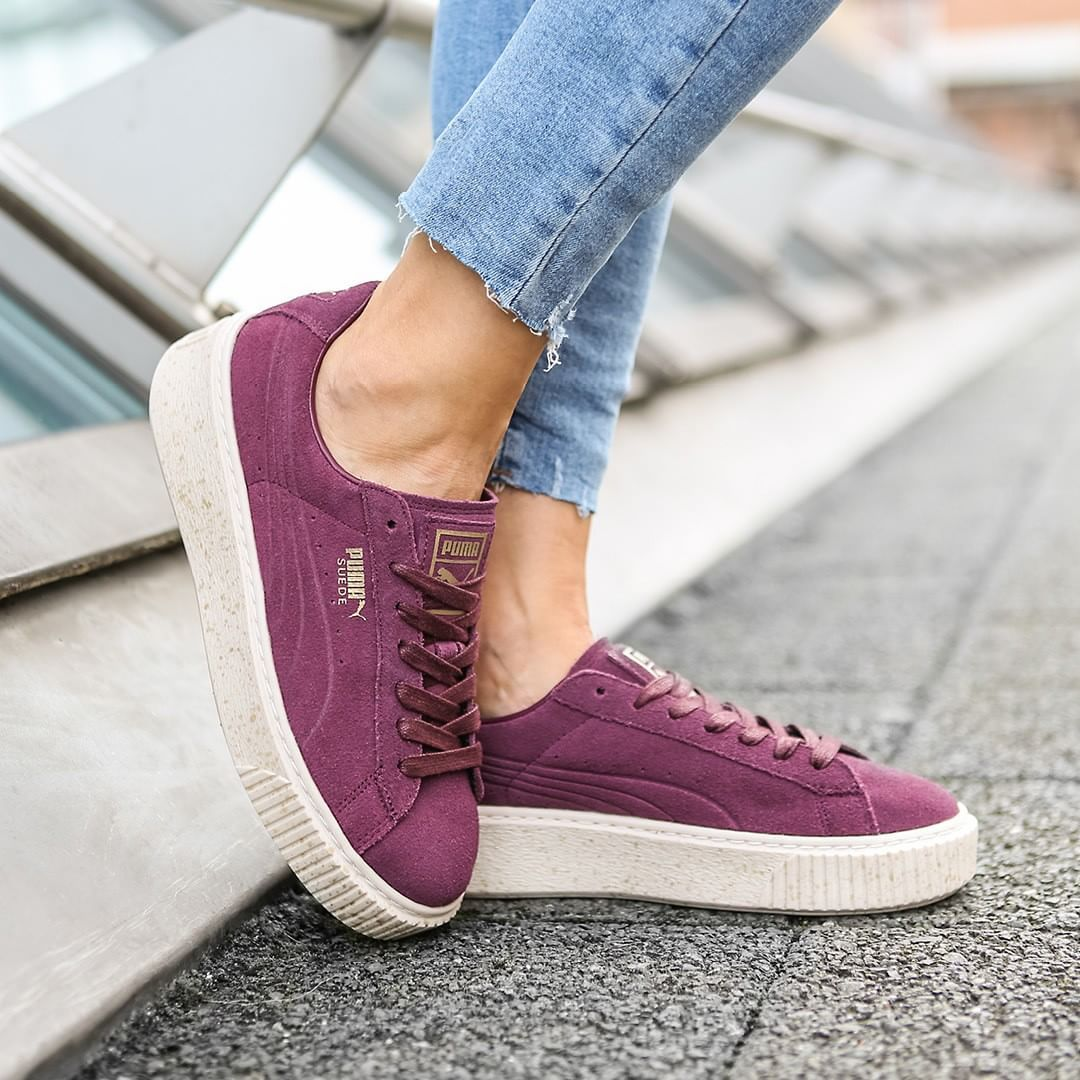c30b6954370 Puma Suede Platform Speckle Bordeaux . Disponible Available  SNKRS.COM