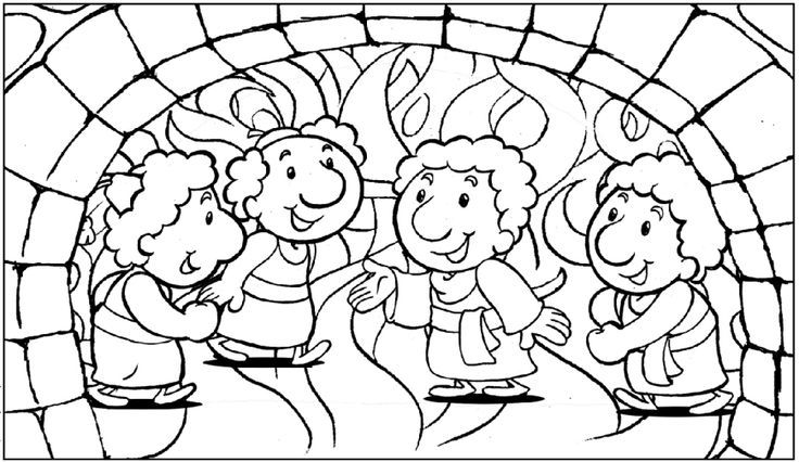 Shadrach, Meshach, and Abednego coloring page | 2016 Discipleland ...