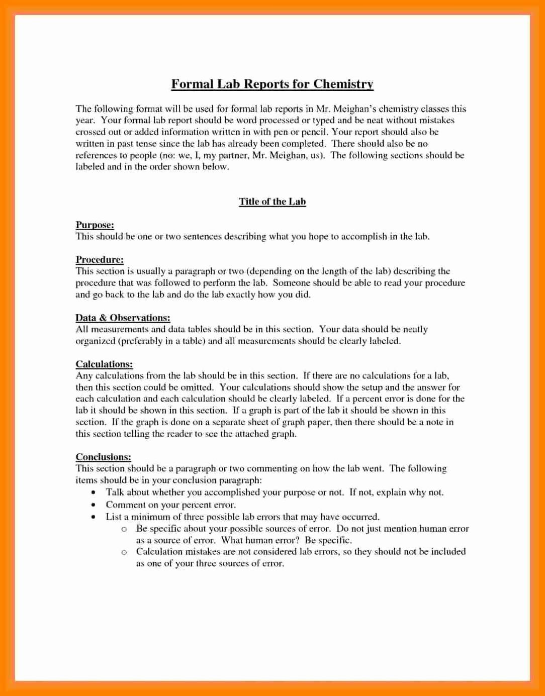 The charming 003 Formal Lab Report Example Best Write Up