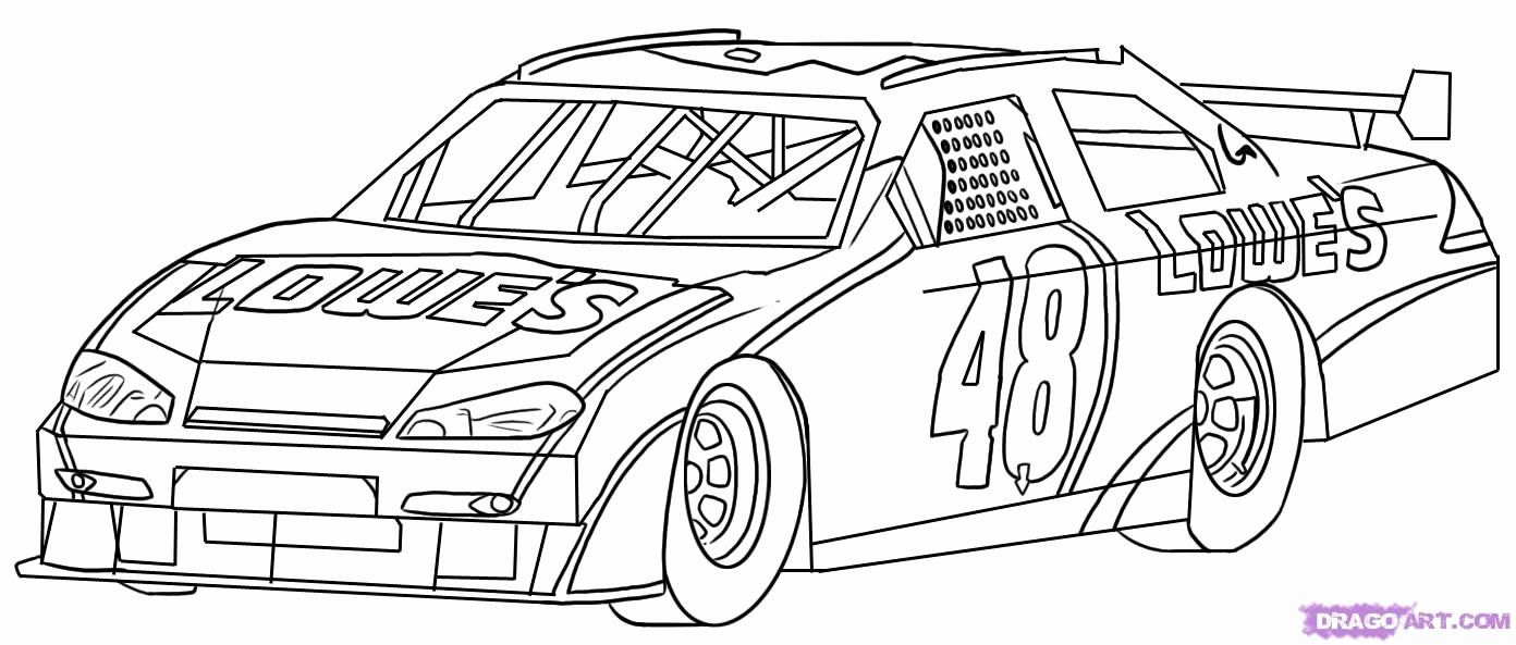 Easy Car Coloring Pages Unique How To Draw A Race Car Gambar