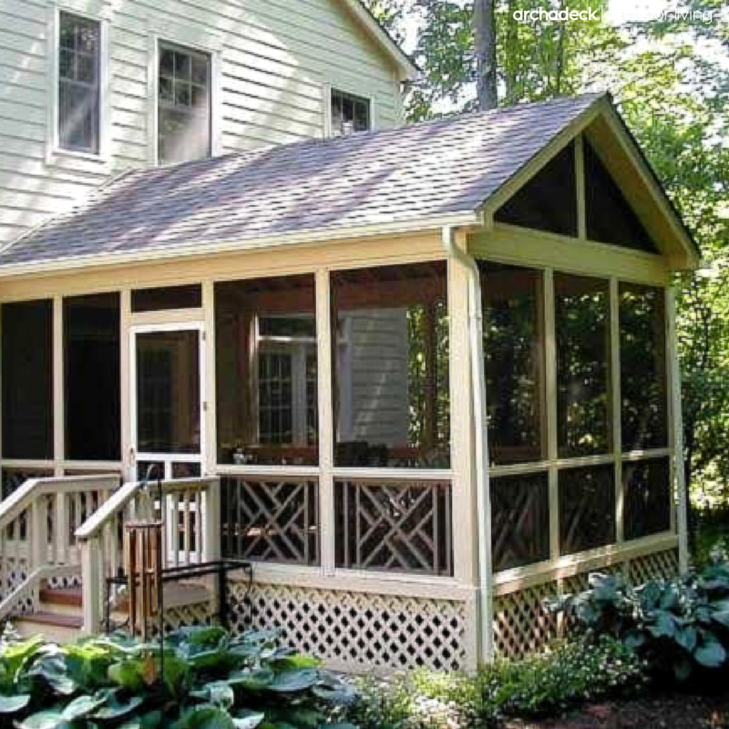 Creative Screened Porch Design Ideas: Lovely, Forever Classic, Traditional Screen Porch With