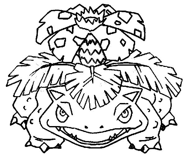 Picture Coloring Pokemon Coloring Pages Venusaur With Coloring