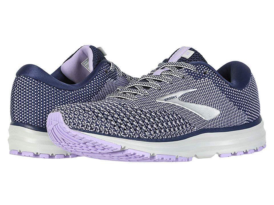 f49dfedeb07b4 Brooks Revel 2 (Blue Purple Rose Grey) Women s Running Shoes. The ...