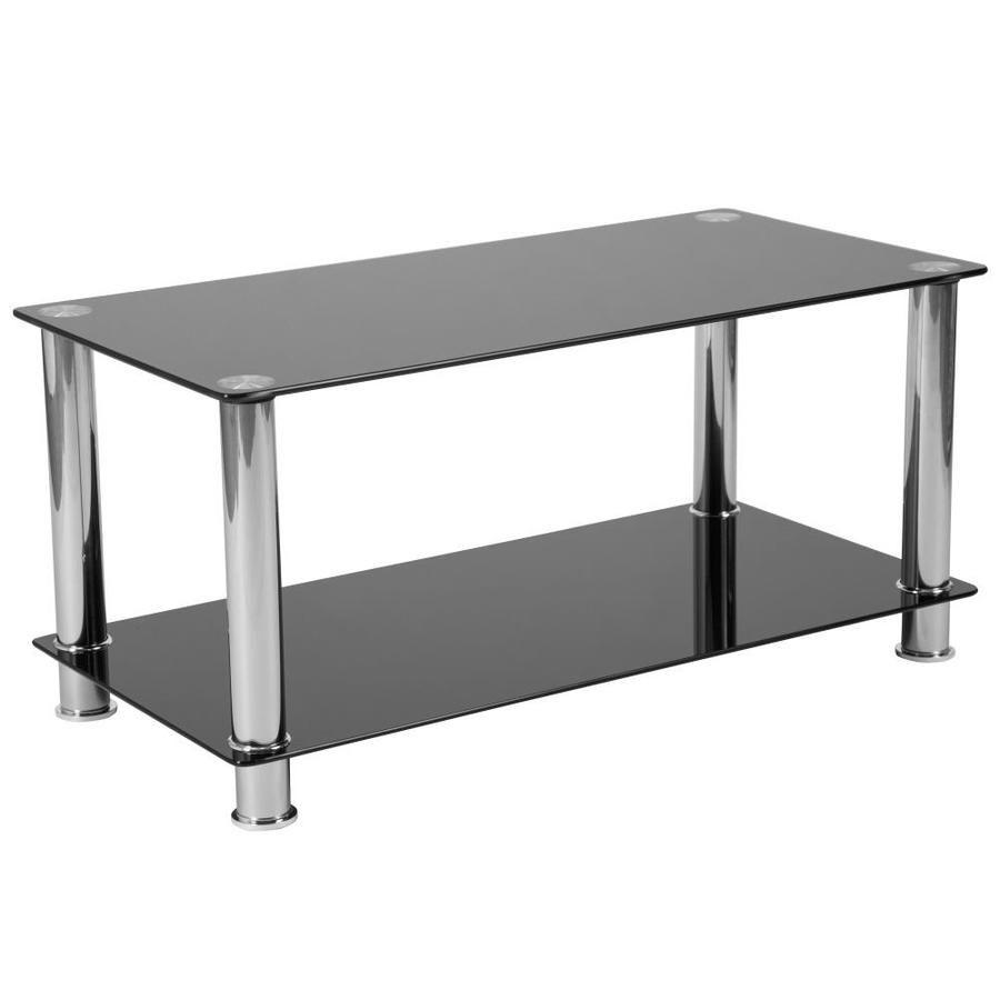 Flash Furniture Riverside Clear Glass Coffee Table Lowes Com Coffee Table With Shelf Coffee Table Steel Frame Steel Coffee Table [ 900 x 900 Pixel ]