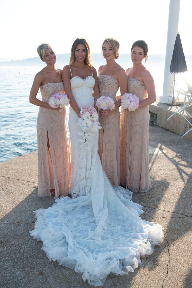 Bridal party inbal dror wedding dress, needle and thread bridesmaid ...