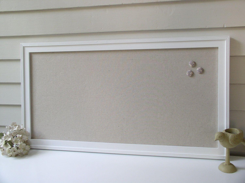 Organization Magnet Board - Magnetic Framed Bulletin Board in Shabby ...