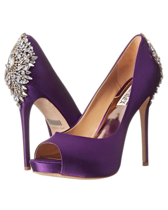 Badgley Mischka Kiara Purple Satin Buy Http Shoespost Com
