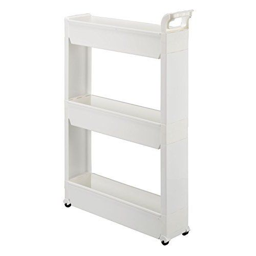 Slim Storage Cabinet Organizer Rolling Pull Out Cart Rack Tower With Wheels 3 Shelf Shelv Bathroom Storage Organization Storage Cart Small Bathroom Storage