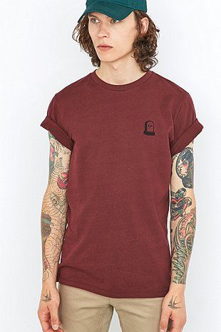 Embroidered RIP Burgundy T-shirt