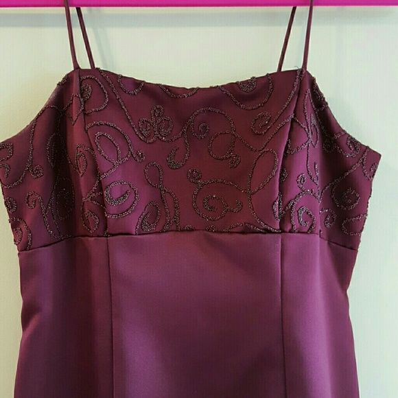 Bridesmaid dress/Prom dress Burgandy dress with beading on the bodice.  Matching crop jacket.  The shoes could be included , they were dyed to match the dress. Bill Levkoff Dresses Prom