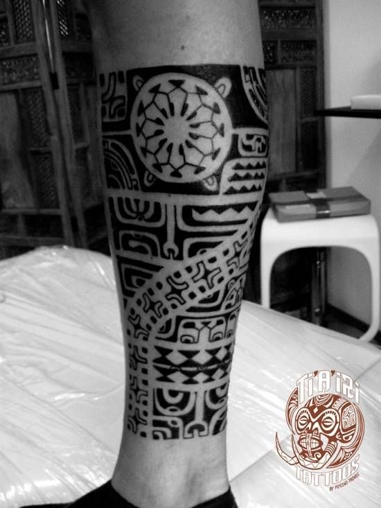 Traditional Maori Tattoos Leg: Ti'a'iri Polynesian Tattoo