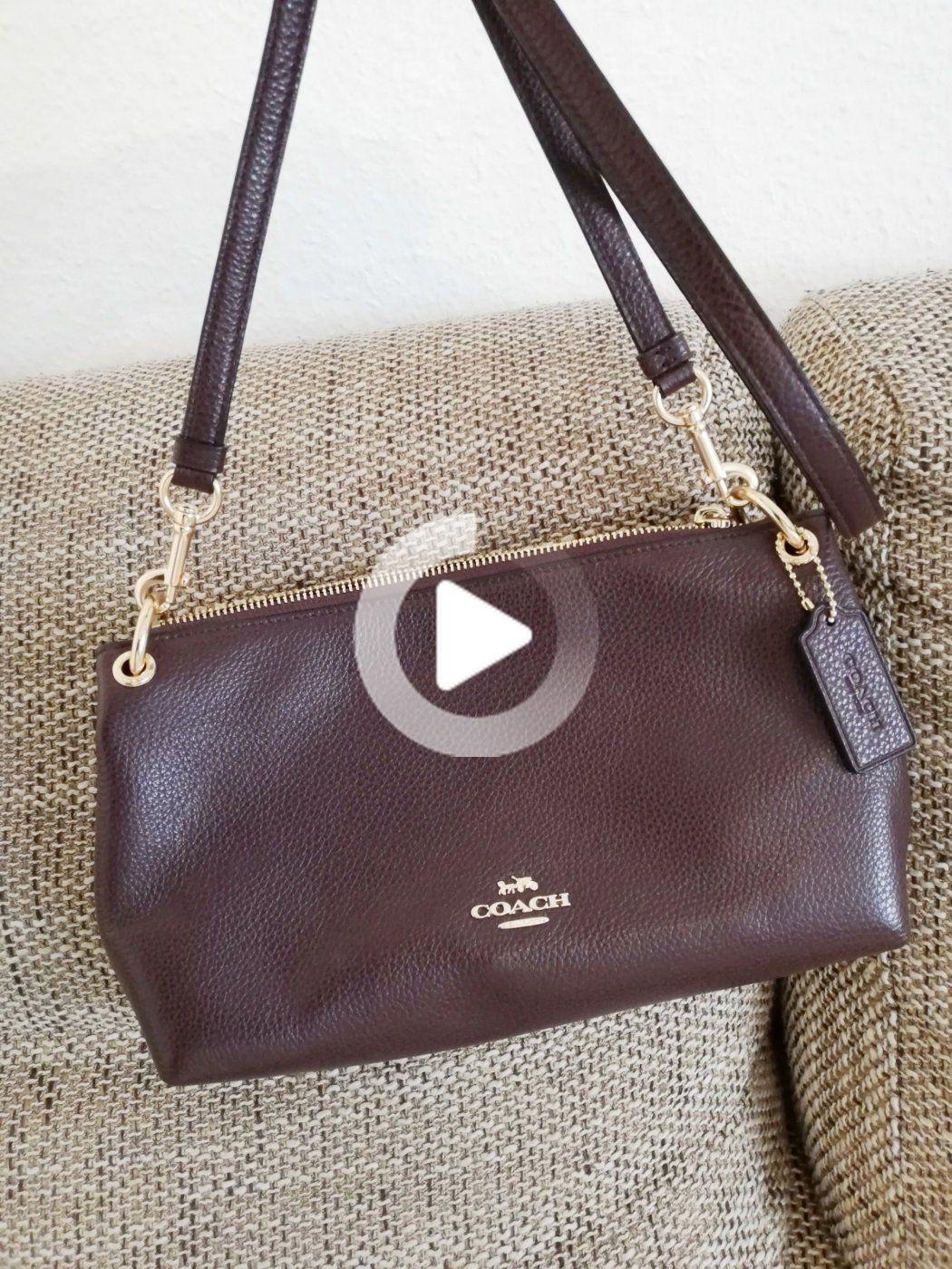 Sac bandoulière Coach en cuir bordeaux * comme neuf * | Leather ...