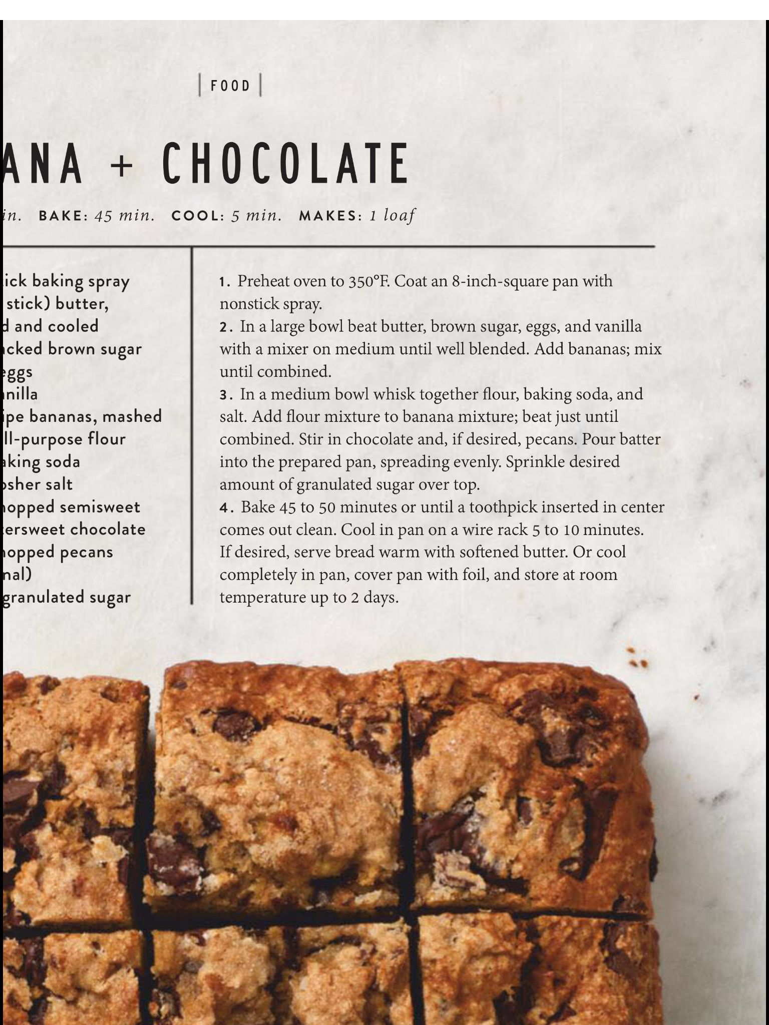 Quick Breads From The Magnolia Journal Spring 2019 Read It On The Texture App Unlimited Access To 200 Top Magazines Stick Of Butter Quick Bread Food