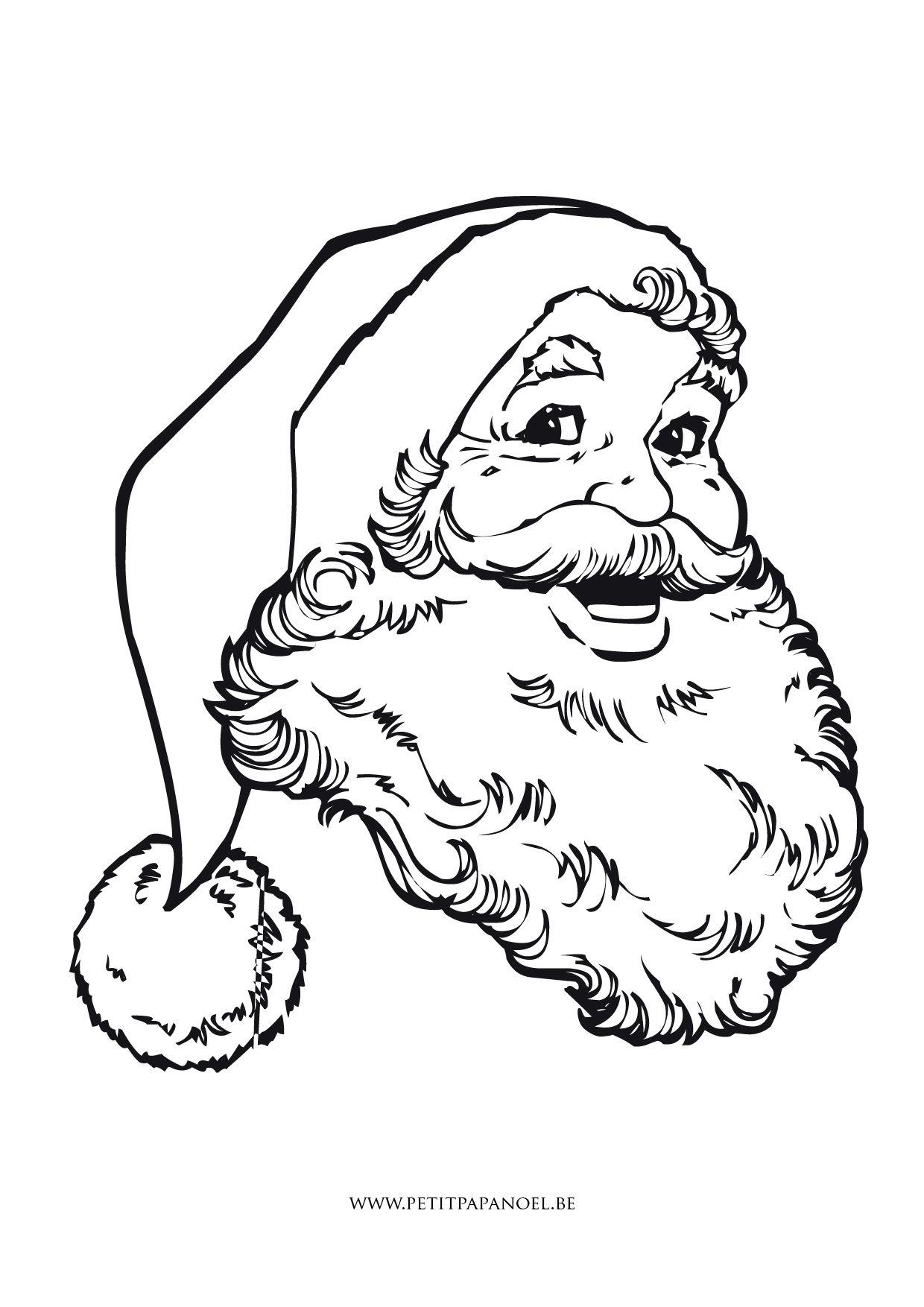 Coloriages Petit Papa Noel Kerst Stempelen