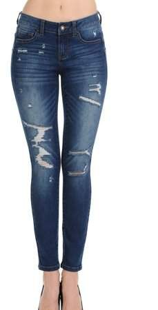 042c7efcc66a Wax Denim Juniors  Push Up Skinny with Destructions Jeans in 2019 ...