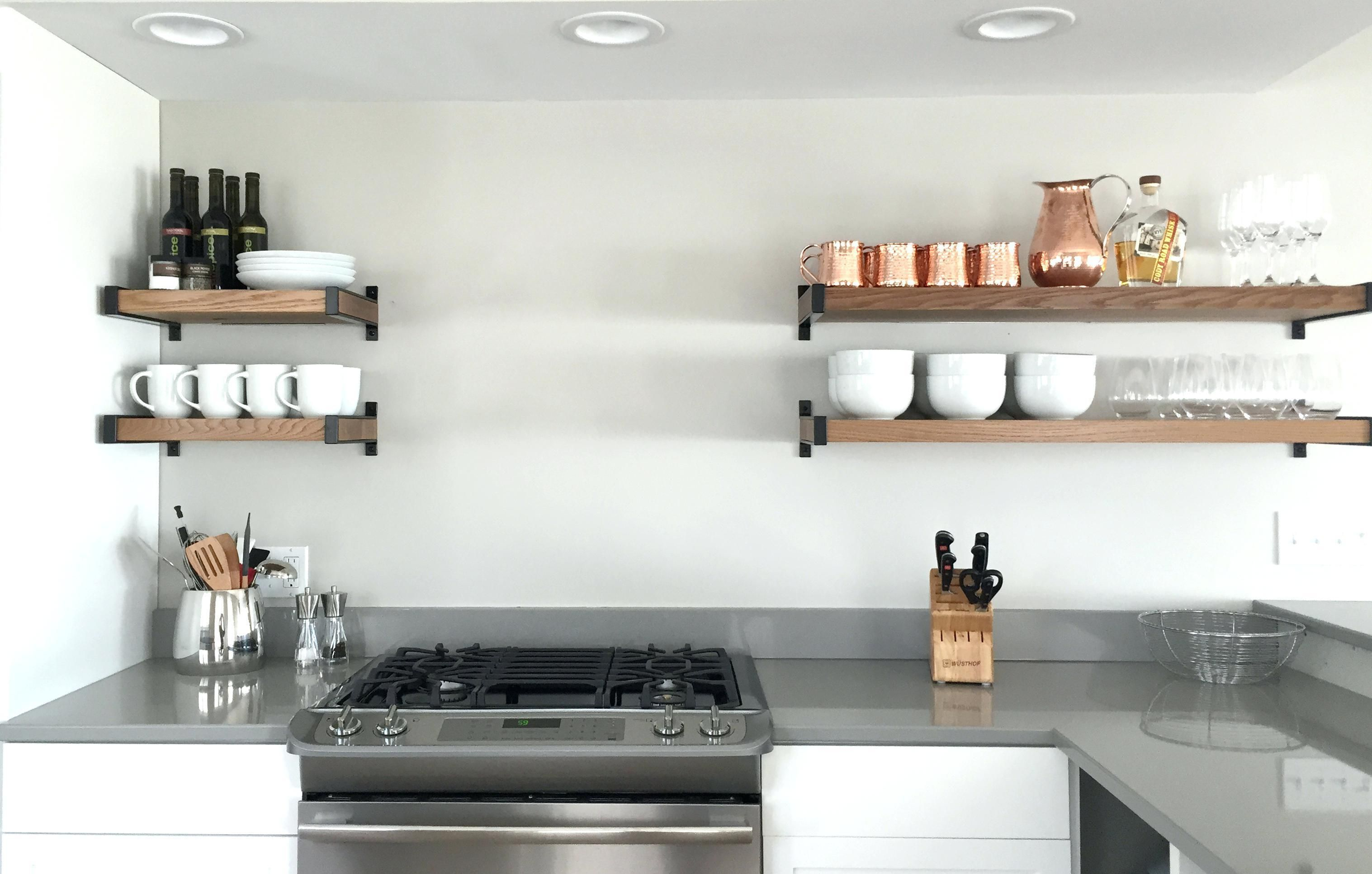 Pleasing Doors Floating Kitchen Shelves Diy Inches Deep Classic