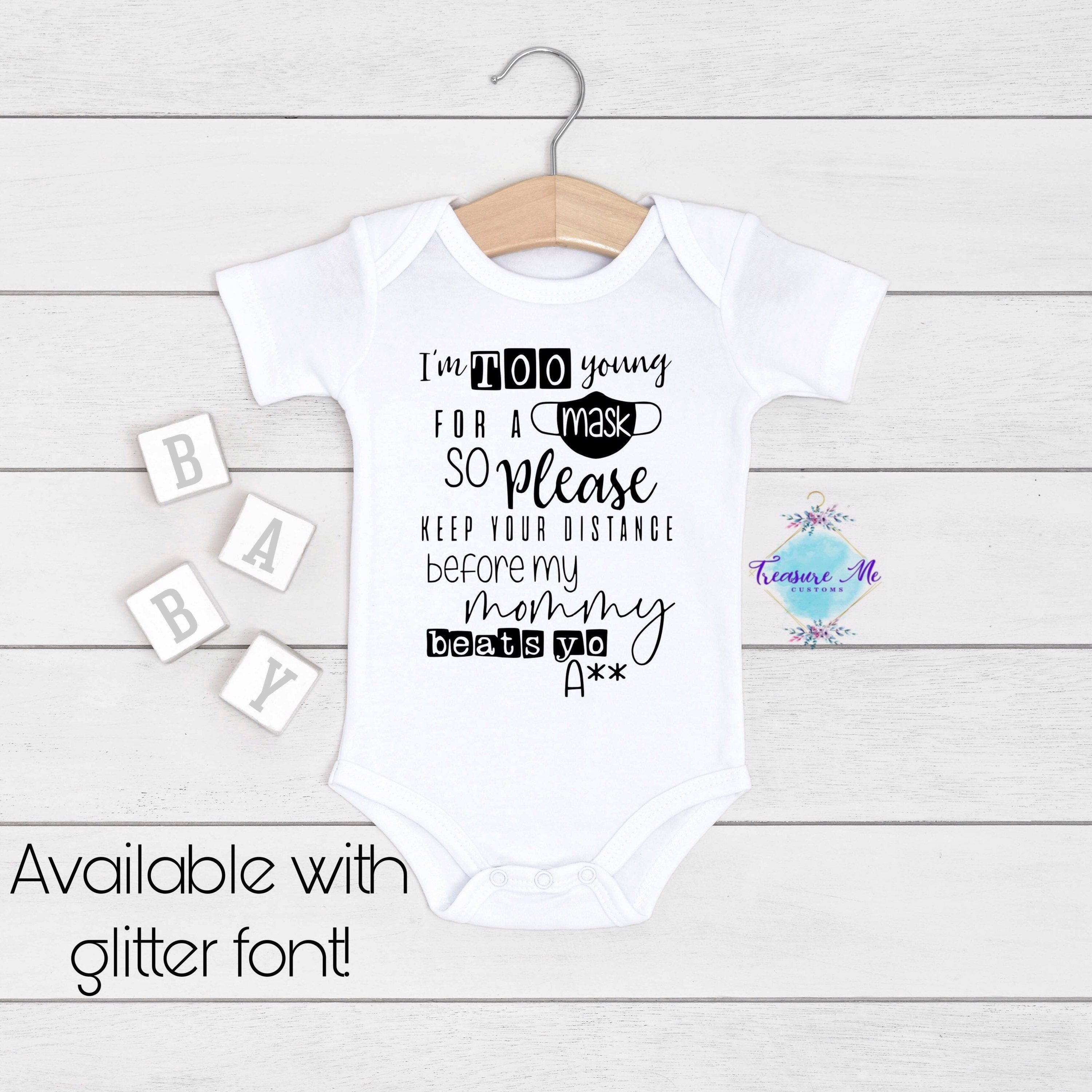 Personalized Alphabet Name Onesie\u00ae Custom Name Infant Bodysuit Birth Announcement OVER 100 COLOR OPTIONS