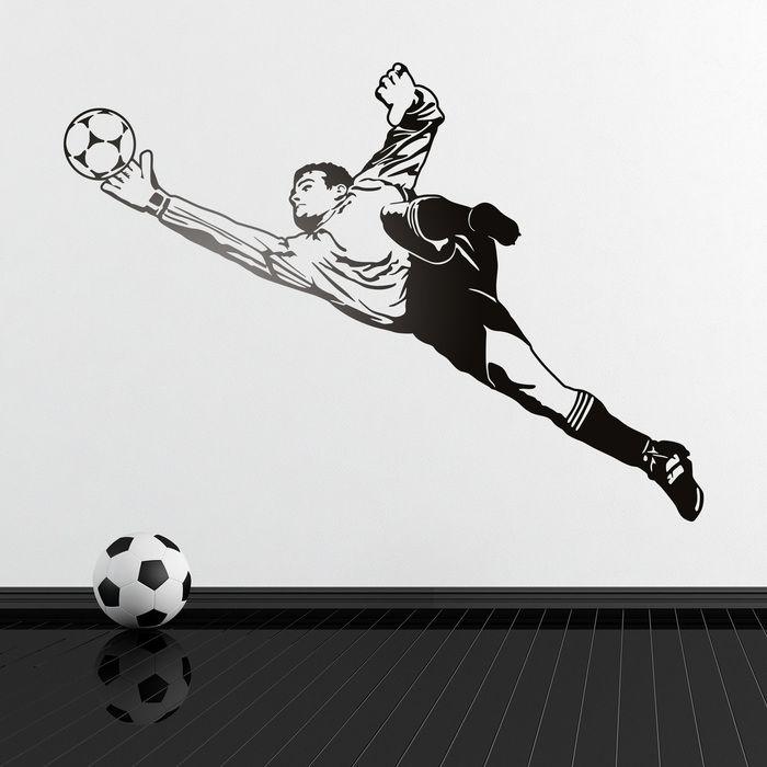 Portero de fútbol - VINILOS DECORATIVOS  c57988a7e8757