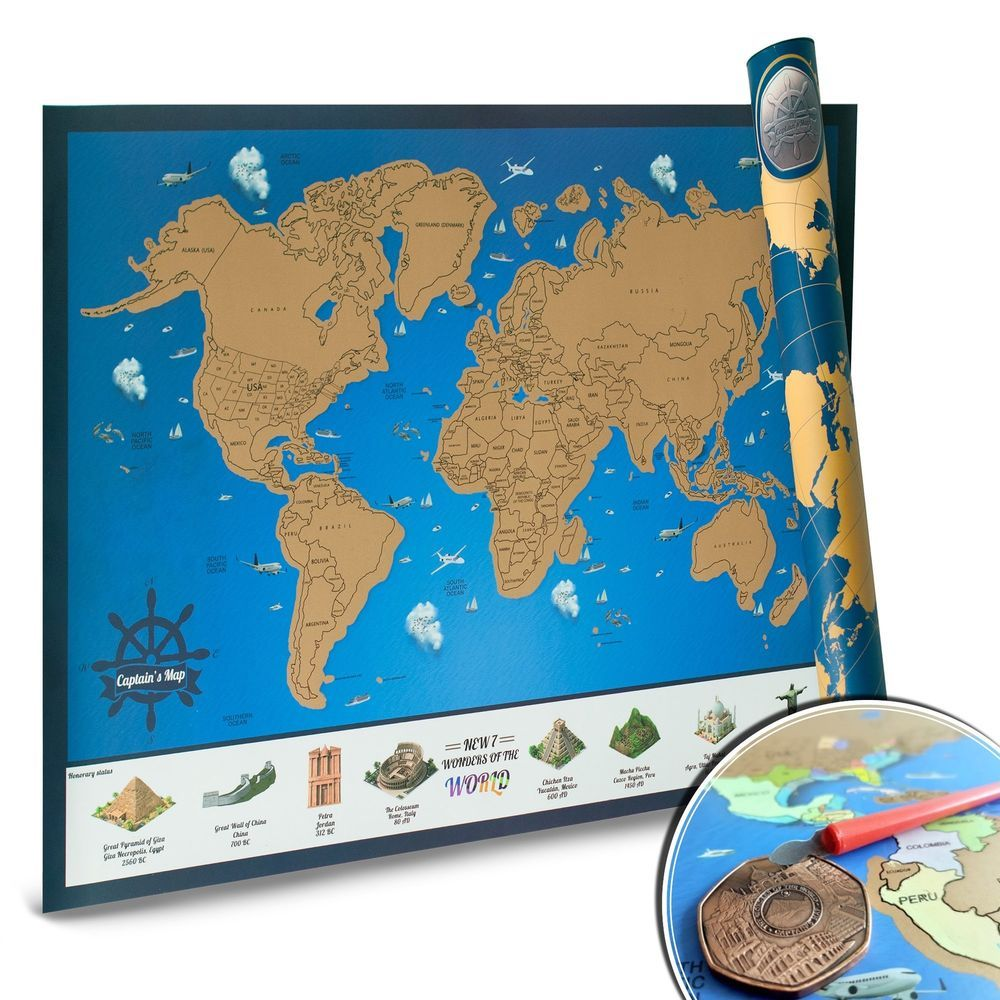 Scratch off world map with us states personalized travel tracker for scratch off world map with us states personalized travel tracker for adventure gumiabroncs Image collections