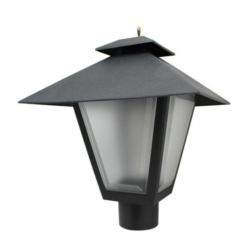 125w Equal 3000k Led Post Top Black Square Coach Lantern Pole Mount Light Light Bulb Surplus Outdoor Lighting Outdoor Light Fixtures Lantern Lights
