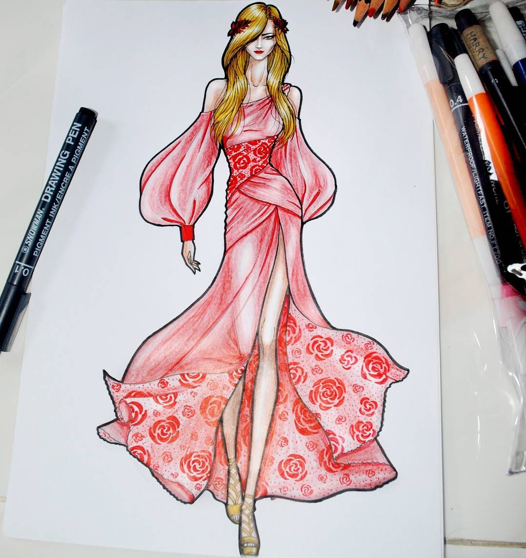 1 194 Likes 22 Comments Harry Sandi Harry Sandi On Instagram Beau Fashion Illustration Sketches Dresses Fashion Design Sketchbook Dress Design Sketches