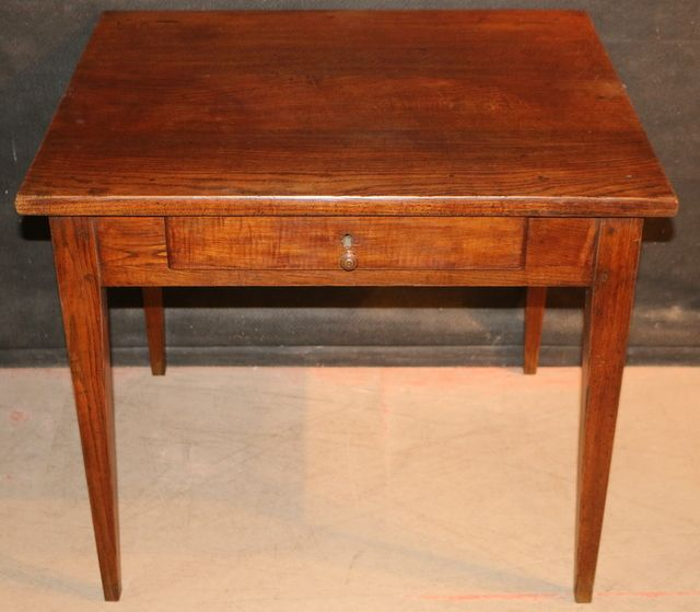Cherry Wood Lamp Table 19thc French