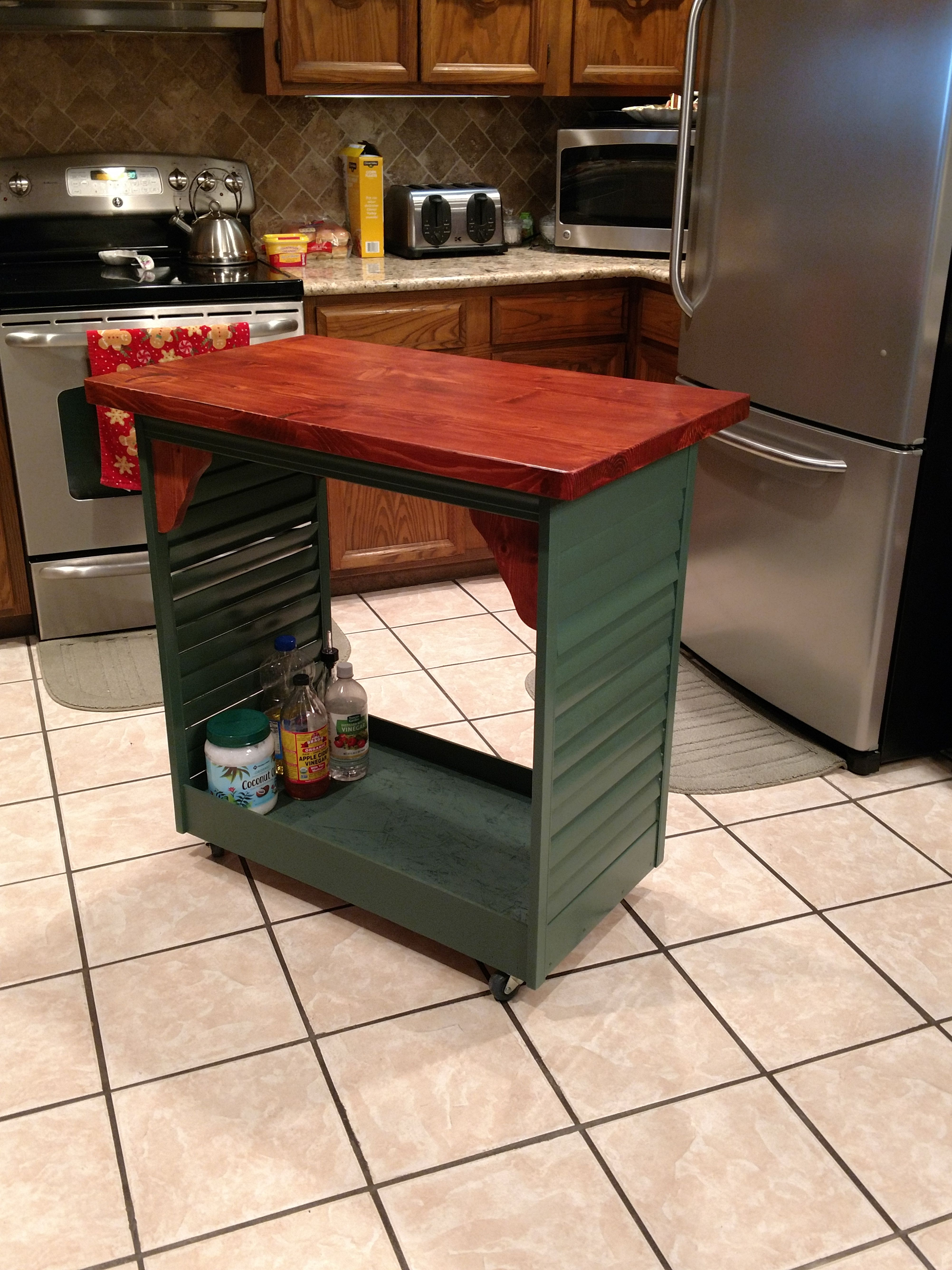 Portable Kitchen Island Made From Shutters Kitchen Island