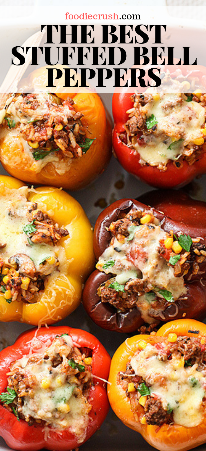 THE BEST STUFFED PEPPERS WITH GROUND BEEF #groundbeefrecipes