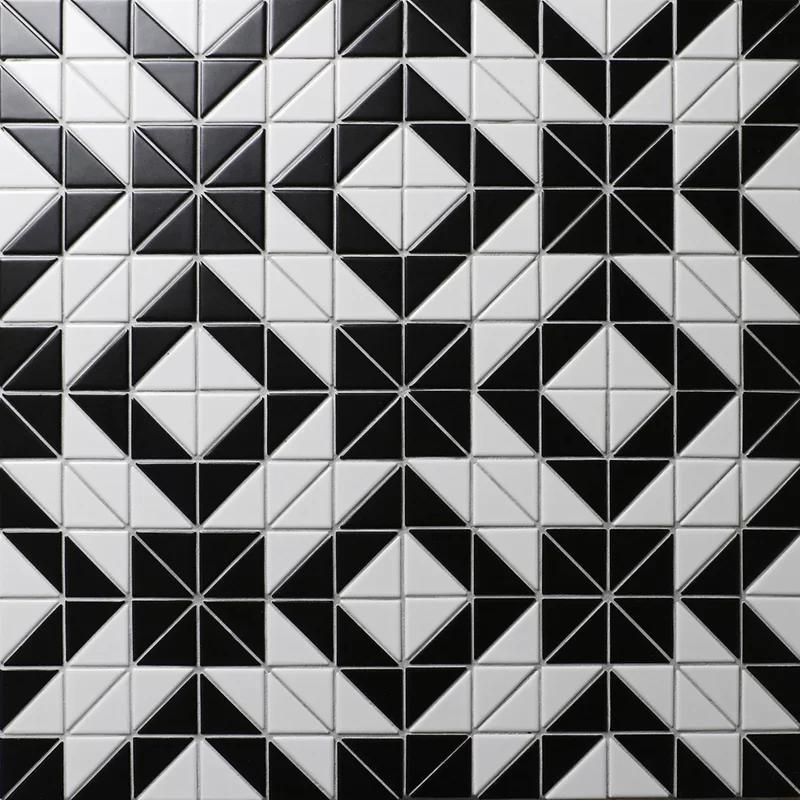 Trian Rue 1 X 2 Porcelain Mosaic Tile With Images Porcelain