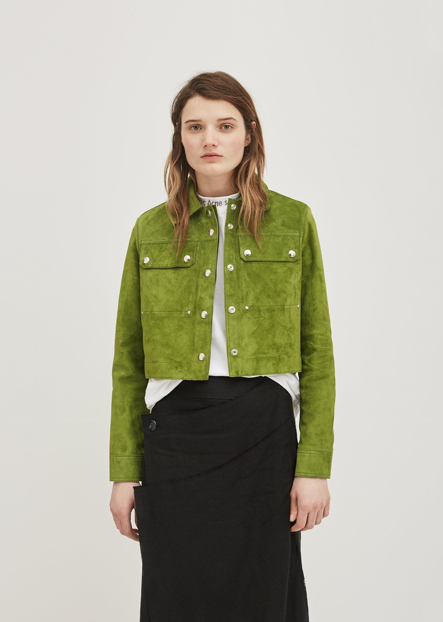 Sage Suede Jacket Quần áo