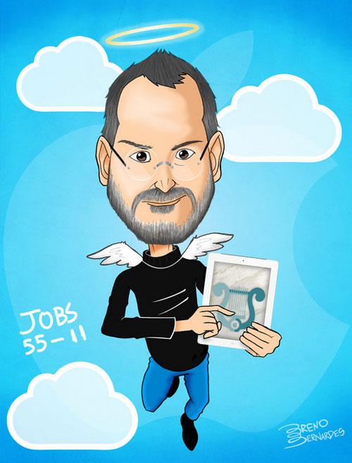 Steve Jobs Bill Gates Competition Gejts Dzhobs Konkurenciya Steve Jobs Sticker Set Caricature