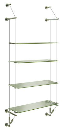 Scww 3060 Suspended Glass Shelf Wall To Wall 4 X 30x60 Shelf