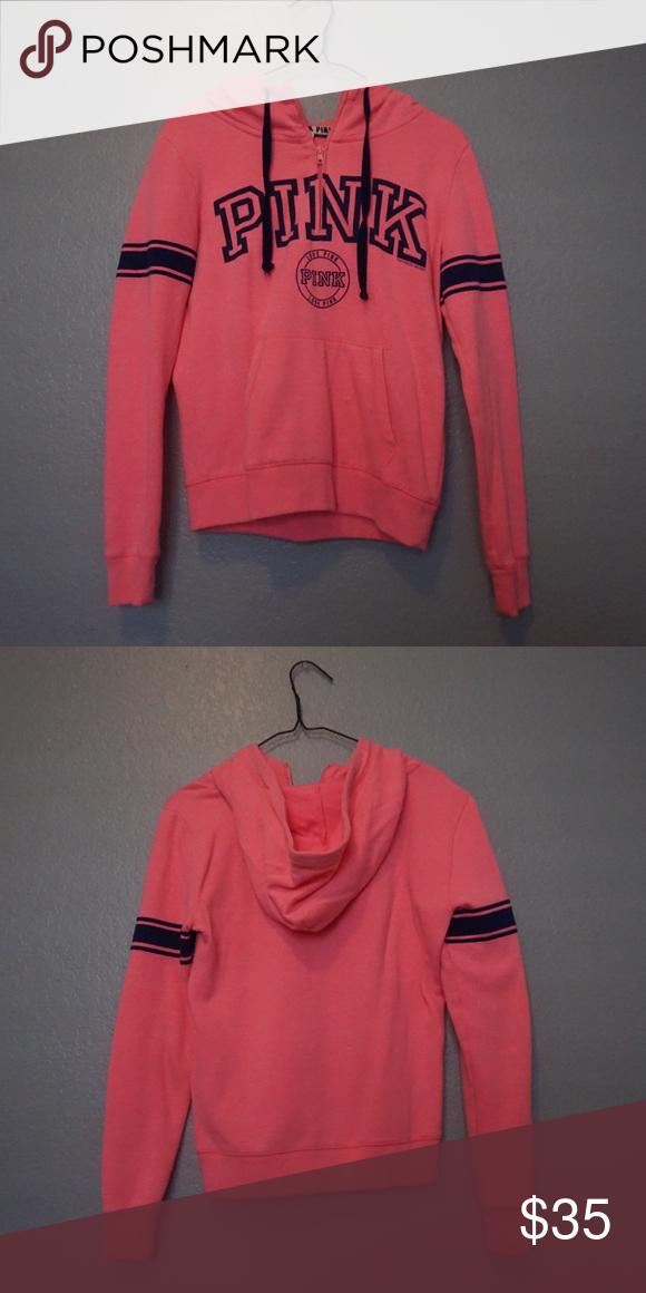 2445bedc0418a Vs pink perfect half zip hoodie | My Posh Closet | Zip hoodie, vs ...