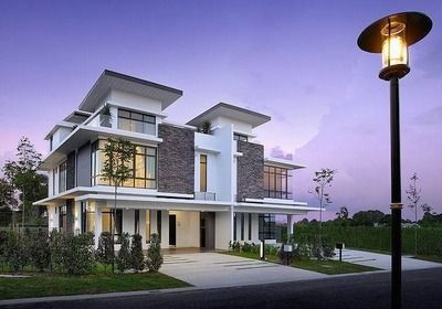 Modern semi detached house plans google search dom for Best house design malaysia