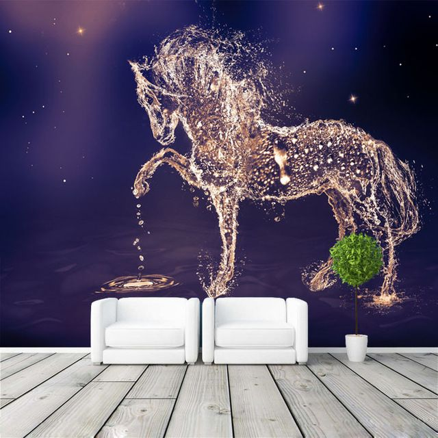 Fantasy Horse Photo Wallpaper Custom Wall Mural Charming Galaxy Wallpaper  Wall Art Bedroom Girls Kid Room Decor Home Decoration