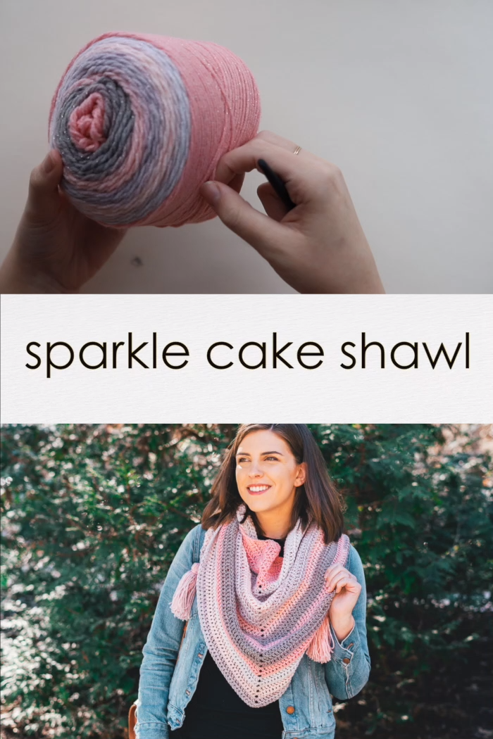 Photo of Crochet Sparkle Cake Shawl – free pattern & tutorial