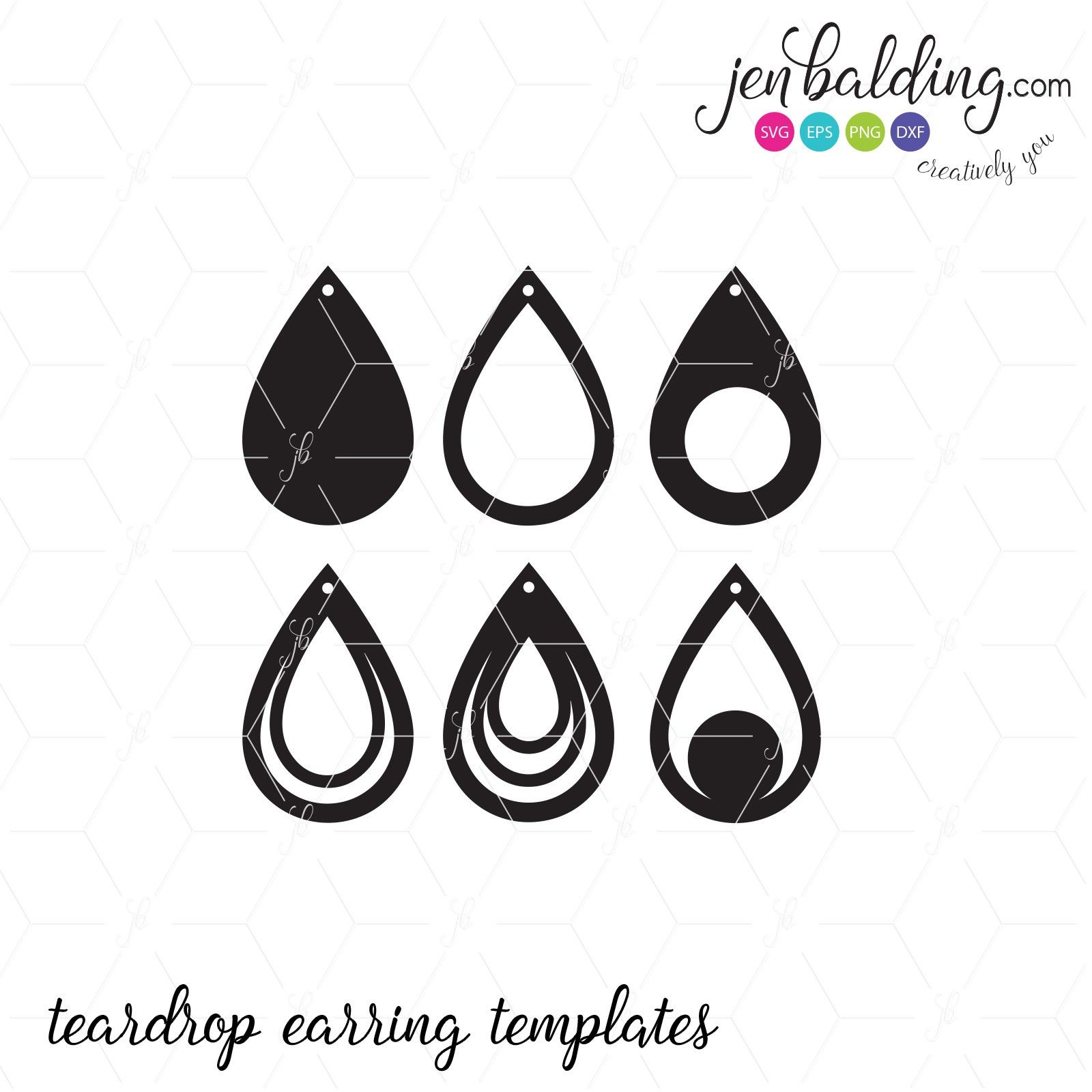 Download Free Svg Card Templates | Free earrings, Leather earrings